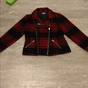 A plaid fashion jacket